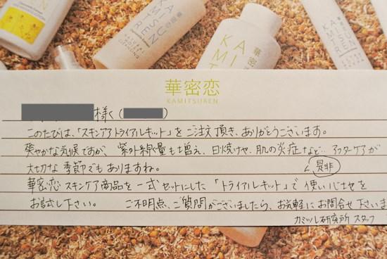 カミツレンお手紙