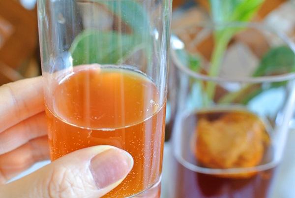 発酵した紅茶キノコドリンク
